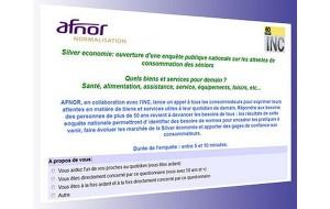 L'AFNOR lance une enquête publique nationale sur les attentes de consommation des seniors