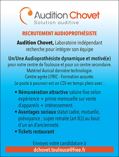 Annonce emploi - Audition Chovet