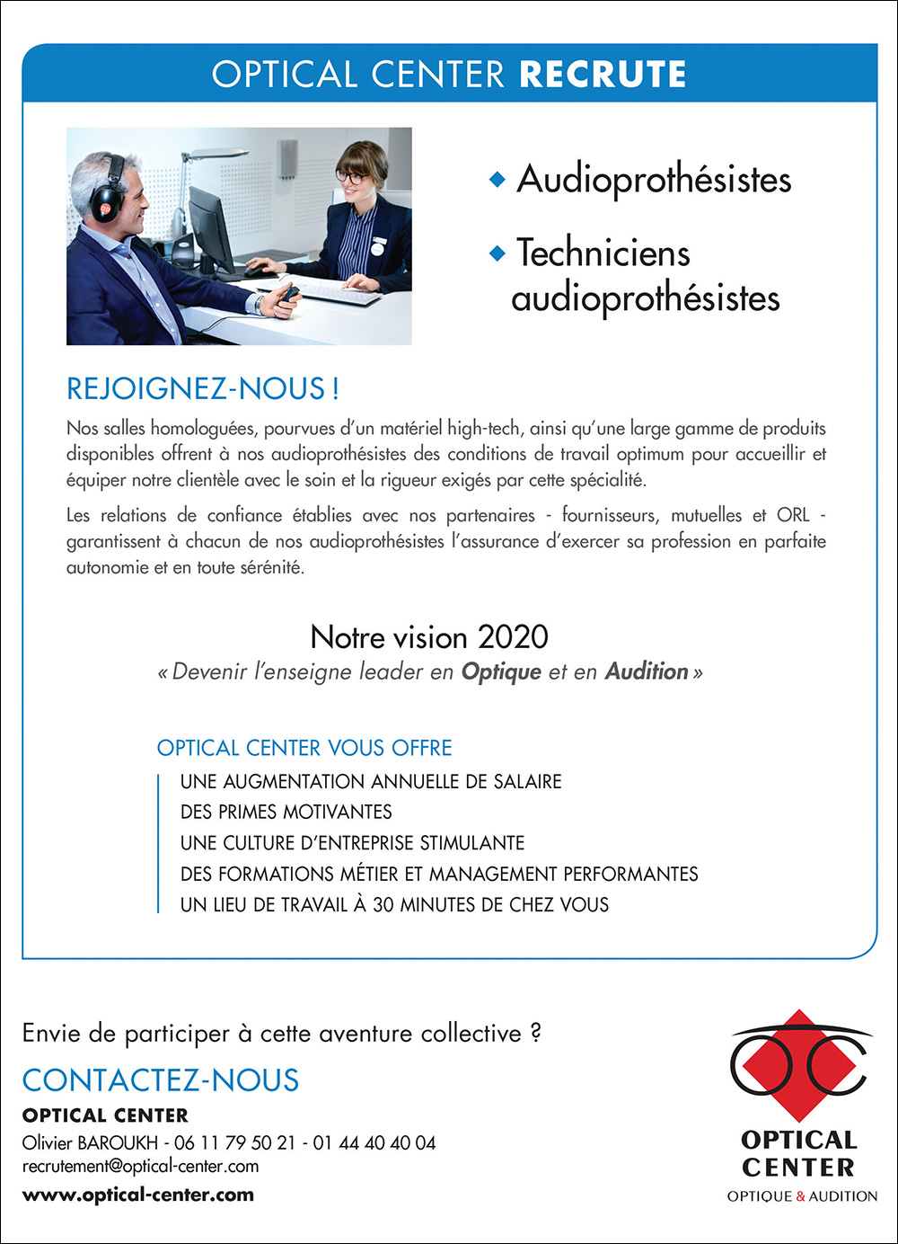 Annonce emploi - Optical Center