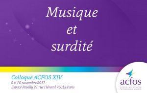 Musique et surdité au programme du 14e colloque de l'Acfos