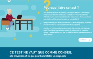 Un an après la refonte de son site, Audilab met en avant son test auditif