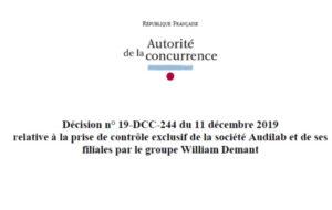 L'Autorité de la concurrence met en ligne sa décision concernant la prise de contrôle d'Audilab par Demant