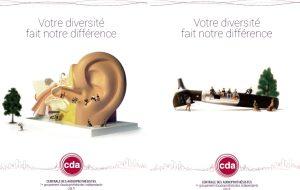 Des visuels originaux pour la nouvelle communication de la CDA