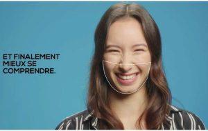Un film TV pour promouvoir les masques transparents