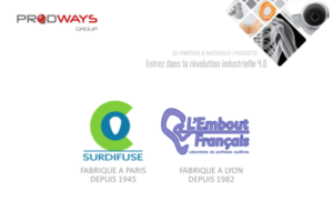 Prodways Group rachète Surdifuse – L'Embout français