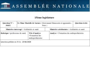 La députée Marielle de Sarnez réclame à son tour « un cadre professionnel rénové » pour les audioprothésistes