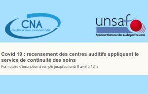 L'Unsaf et le CNA lancent le recensement des centres assurant la continuité des soins
