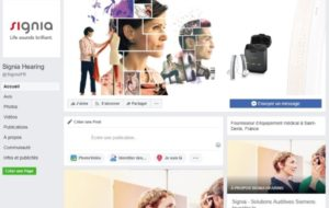Signia ouvre sa page Facebook France