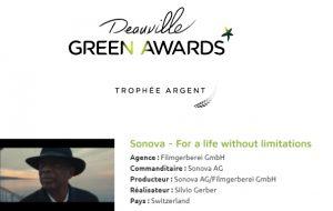 Le dernier film Sonova médaillé d'argent à Deauville