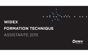 Invitation : Widex propose une journée de formation technique destinée aux assistants le 22 juin