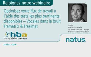 Natus organise un webinaire sur les outils de vocale dans le bruit