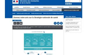 Stratégie nationale de santé : le gouvernement sollicite votre avis