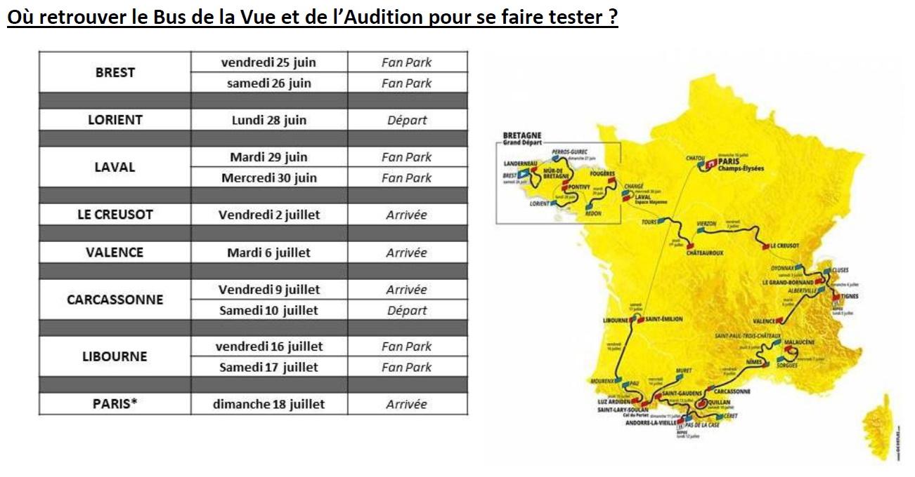Krys étapes bus audition Tour de France 2021