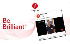 Signia dope sa notoriété avec le jeu-concours #BeBrilliant et le danseur Yann-Alrick Morteuil