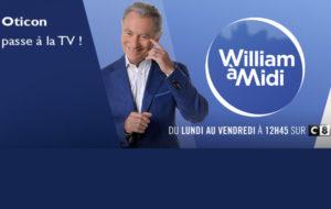 Oticon sponsorise l'émission «William à midi» pendant 4 semaines